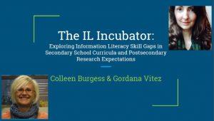 The IL Incubator- Exploring Information Literacy Skill Gaps